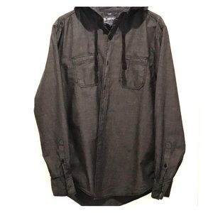 Men's American Rag Hooded Shirt. Size L